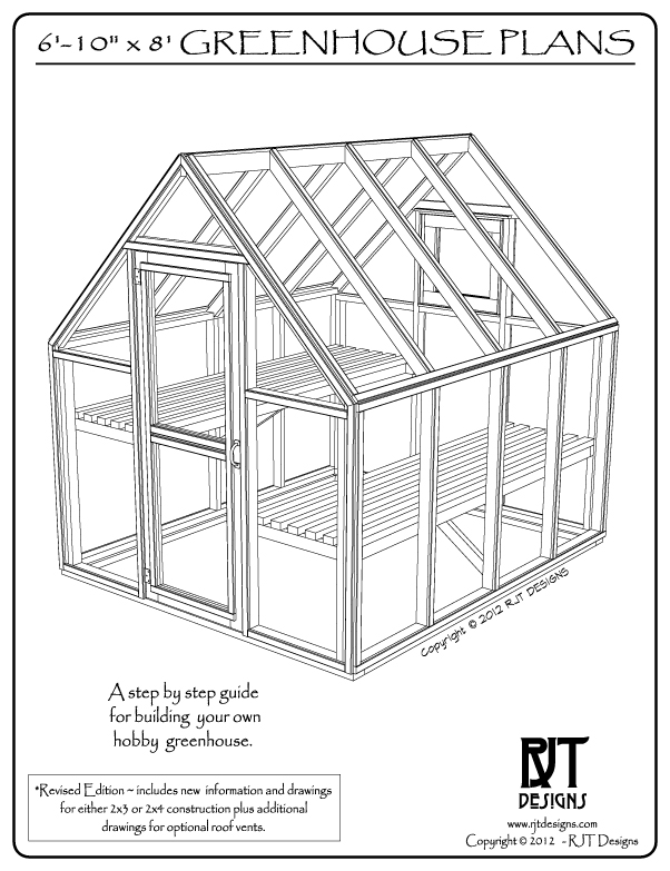 "Plans for the 6'-10' x 8'-0"" Greenhouse are now available!!"
